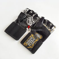 Рукавички для тренажерного залу Velo з натуральної шкіри (VL-3235, чорний)