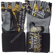 Перчатки для тренажерного зала Velo из натуральной кожи (VL-3220, серые)