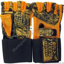 Перчатки для тренажерного зала Velo из натуральной кожи (VL-3224, оранжевые)