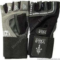 Перчатки для зала Velo тренажерные кожаные (VL-8120, черно-серые)
