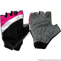 Перчатки для фитнеса женские Zelart (BC-3786, черно-розовые)