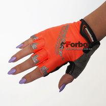 Рукавички для фітнесу текстильні жіночі MADBIKE (Sk-01, помаранчевий)