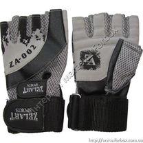 Перчатки для тренажерного зала Zelart тяжелоатлетические кожа (ZB-8121, серые)