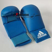 Перчатки для каратэ Adidas с лицензией WKF без большого пальца (661.11, синие)
