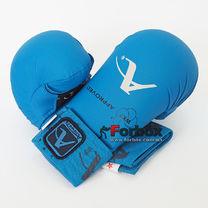 Перчатки для каратэ Arawaza на основе PU (BO-7250-B-repl, синий)