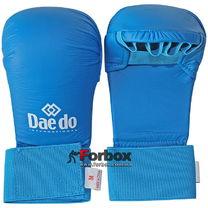 Рукавиці для карате Daedo (BO-5076, синій)