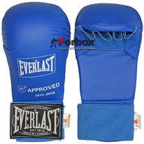 Перчатки для каратэ Everlast на основе PU (BO-3956, синий)