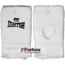 Накладки (перчатки) для каратэ Matsa (MA-0009, белые)