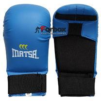 Перчатки для каратэ Matsa кожзам на основе PU (MA-0010, синие)