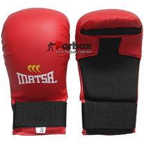 Перчатки для каратэ Matsa кожзам на основе PU (MA-0010, красные)