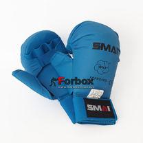 Перчатки для каратэ Smai WKF Approved с защитой большого пальца (SMP-101, синие)