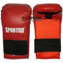 Перчатки (накладки) для каратэ Sportko (НК2, красные)