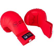 Перчатки для каратэ TOKAIDO с лицензией WKF без большого пальца (KM-01, красные)