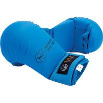 Перчатки для каратэ TOKAIDO с лицензией WKF без большого пальца (KM-01, синие)