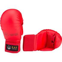 Перчатки для карате Tokaido с лицензией WKF с защитой большого пальца (FSBD042, красные)