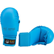 Перчатки для карате Tokaido с лицензией WKF с защитой большого пальца (FSBD042, синие)