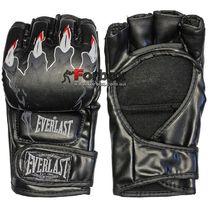 Перчатки для Смешанных единоборств ММА Everlast кожзам (BO-3207, черные)
