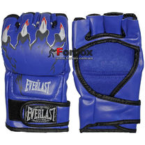 Перчатки для Смешанных единоборств ММА Everlast кожзам (BO-3207, синие)