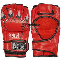Перчатки для Смешанных единоборств ММА Everlast кожзам (BO-3207, красные)