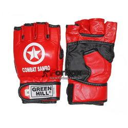 Рукавиці для самбо (ММА) Green Hill з ліцензією FIAS (CFBM-2085, червоні)