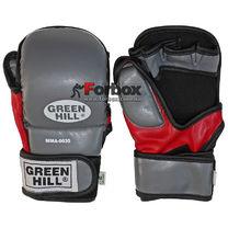 Рукавиці для ММА Green Hill вініл (0035, сірі)