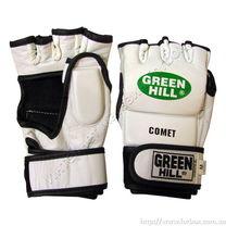 Перчатки для ММА Green Hill Comet из натуральной кожи (MMA-0012, белые)