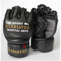 Перчатки для ММА М2 кожа Lev (1310-bk, черные)