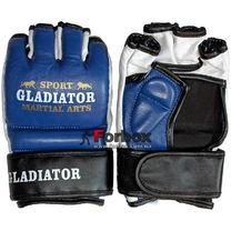 Перчатки для ММА М2 кожа Lev (1310-bl, синие)