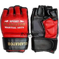 Перчатки для ММА М2 кожа Lev (1310-rd, красные)