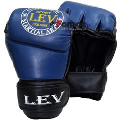 Перчатки для ММА М1 кожа Lev (1341-bl, синие)
