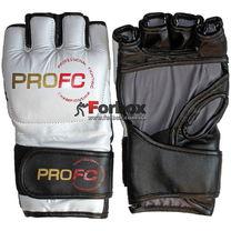 Перчатки для MMA М3 кожа Lev (1304-wh, белые)