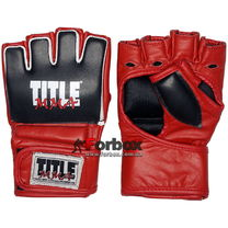 Рукавиці для змішанних єдиноборств TITLE MMA Xtreme Training Gloves (MMXTG, чорно-червоні)