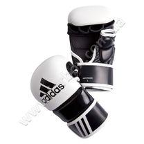 Рукавиці для ММА Adidas тренувальні із шкіри (ADICSG061, біло-чорні)