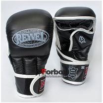 Рукопашные перчатки REYVEL кожа (0177-bk, черные)