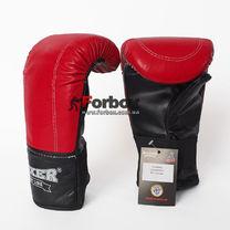 Снарядные перчатки Boxer Элит из натуральной кожи (2017-01К, красные)
