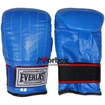 Снарядные перчатки Everlast натуральная кожа (VL-01012, синие)