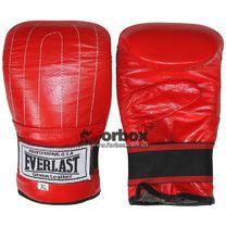Снарядные перчатки Everlast натуральная кожа (VL-01012, красные)