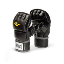 Снарядные перчатки Everlast Wristwrap с открытыми пальцами (EWMMA, черные)