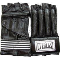 Снарядные перчатки Everlast Зебра (колбаски) кожа (PMEZL, черные)