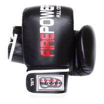 Снарядные кожаные перчатки FirePower (FPTG1, черные)