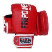 Снарядные кожаные перчатки FirePower (FPTG1, красные)