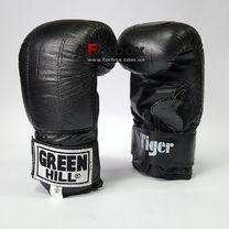 Снарядные перчатки Green Hill Tiger натуральная кожа (PMT-2060, черные)