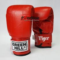 Снарядные перчатки Green Hill Tiger натуральная кожа (PMT-2060, красные)
