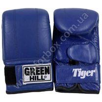 Снарядные перчатки Green Hill Tiger натуральная кожа (PMT-2060, синие)