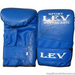 Снарядные перчатки Lev кожа+кожзам (1666-bl, синие)