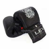 Снарядные перчатки с утяжелителями Lev Sport натуральная кожа (LSSUT-BK, черные)