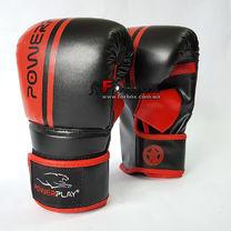 Снарядные перчатки Power Play PU (3025, красно-черные)