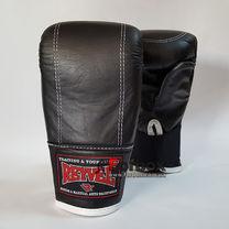 Снарядні рукавиці REYVEL шкіра (0164-bk, чорні)
