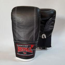 Снарядные перчатки REYVEL кожа (0164-bk, черные)