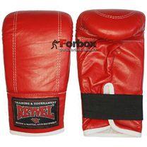 Снарядные перчатки REYVEL кожа (0164-rd, красные)